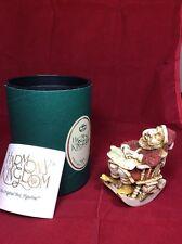 "Collectible Harmony Kingdom "" Jingle Bell Rock"" Hand Made In England w/ Box Xmas"