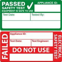 PAT TEST PASS STICKERS LABEL FAILED SELF ADHESIVE VINYL ELECTRICAL TEST SHEET