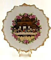 Vintage Religious Decorative Wall Plate Decor Japan Jesus Christ The Last Supper