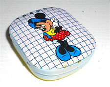 MINNIE 80s Walt Disney italy tin box memo +pencil - scatola latta notes e matita