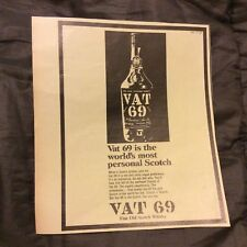 Vintage Advertisement - VAT 69 Scotch Whisky - 1967