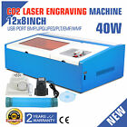 High Precise 40W CO2 USB Laser Engraving Cutting Machine Engraver Wood Cutter