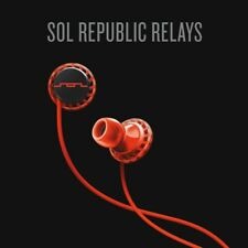 SOL REPUBLIC Relays - In-Ear Headphones Red, Water Resistant, Sport / Gym - New