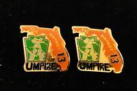 """Little League Baseball Pin(s): (2) UMPIRE - D13 FL - Regular and """"ERROR"""""""