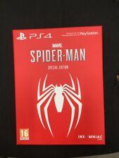 PS4 Edición Especial Marvel de Spider Man vacía caja de cartón solamente Sin Juego
