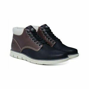 Mens Timberland Bradstreet Black Leather Chukka Boots A178K