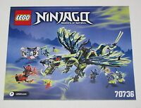 Lego New Instructions Only for Set 70736 Attack of the Morro Dragon