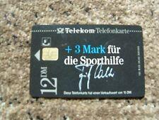 Telefonkarte B 02 08.92, Fritz Walter Sporthilfe, ungenutzt,neu