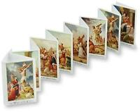 The Way (Stations) of the Cross Accordion Fold Booklet Holy Prayer Card, 3 3/8In