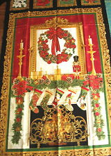 """Quilt/Wallhanging Panel """"Holiday"""" by Timeless Treasures, Fireplace 23"""" x 44"""""""