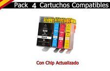 4x para HP 920xl con chip OfficeJet 6000 6500-a 7000 7500-a e710a e710n