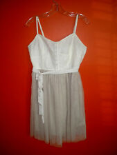 American Eagle ivory, lace tool sleeveless dress. Size 10