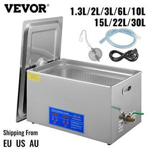 Vevor 1.3L/ 2L / 3L / 6L/ 10L/ 15L/ 22L / 30L Ultrasonic Cleaner W/ Timer Heater