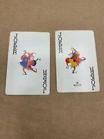 2 vintage Single Swap Playing Cards Joker Hallmark Butterfly Quilt Ephemera Lot
