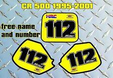 Honda cr500 1995-2001 motivos calcomanías decorativas gráficos libre nombre y número