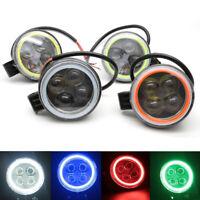 1PC 4D 12W Round Epistar LED Work Light Spot Offroad Driving Fog Lamp ATV 12V