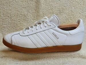 Adidas Gazelle mens trainers Leather White UK 10 EUR 45 US 10.5