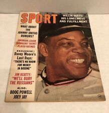 Vintage 1963 (August) Sport Magazine, Baseball, Willie Mays San Francisco Giants