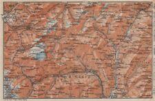 PASSO del SEMPIONE & VAL Antigorio. Limes VAL DIVEDRO CRODO Agaro TOPO-MAP 1922