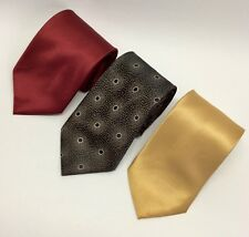 Manzini Neckwear Collection - Lot of 3 Brand NEW! Men's Long Neck Tie