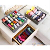 3PCS Bamboo Closet Underwear Bra Socks Organizer Container Ties Storage Box Set