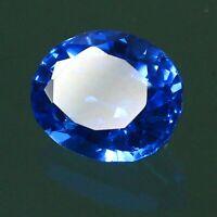 Natural Certified 5.00Ct+ Russia Blue Aquamarine Loose Gemstone 11x9 mm Oval Cut