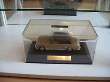 Faller Mercedes 220 S (Ponton) in Beige on 1:43 in Box