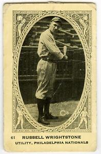 1922 Neilson's Chocolate V61 Type 1 Russell Wrightstone Philadelphia Phillies