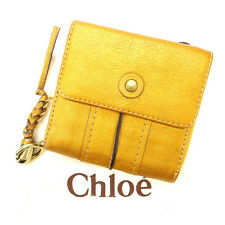 Chloe Wallet Purse Folding wallet Gold Woman Authentic Used M1268
