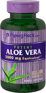 Piping Rock Aloe Vera 5000mg - 150 Softgels (free same day shipping)