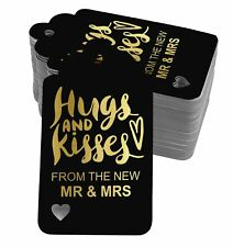Real Foil Bottle Tag Hugs And Kisses From The New Wedding Craft Tags-SH5_1BG