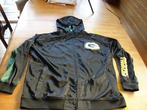 Green Bay Packers Majestic lined hoody sweatshirt XXL zipper light use