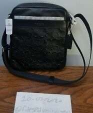 Coach Flight Bag Crossgrain Leather Black F11741