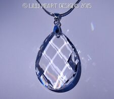 m/w Swarovski Crystal Clear Trellis Drop on Choice of Chains Lilli Heart Designs