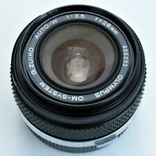 Olympus G. Zuiko Auto-W 28mm f/3.5 Wide angle Lens. Nr. Mint. Tested. see images