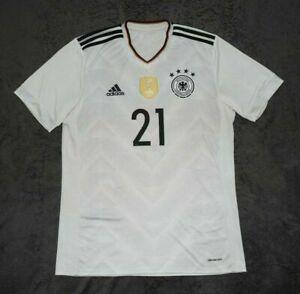 ADIDAS shirt GERMANY jersey GUNDOGAN kit gray Deutschland M medium #21 fifa 14