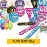 AGE 40 - Happy 40th Birthday Party Decorations (Oaktree) Banners & Bunting