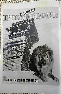 Clipping-Ritaglio TRIENNALE D'OLTREMARE NAPOLI  originale 1940 cm.24x17