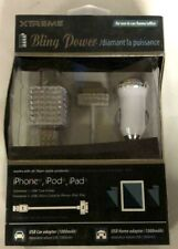 Xtreme 30 Pin Connector Bling Power Home and Car Adapter for iPhone, iPod & iPad