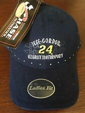 Jeff Gordon Hendrick Motorsport Ladies Adjustable Cap (NWT) with a little bling