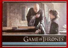 GAME OF THRONES - NOW HIS WATCH IS ENDED - Season 3, Card #11 - Rittenhouse 2014