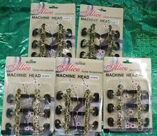 5 Alice Aos-020B3P 1 Pair 3 Machine Head Classical Guitar String Tuning Pegs Nr