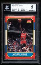 MICHAEL JORDAN 1986-87 FLEER ROOKIE RC #57 BGS 4 CENTERED SIMPLY AWESOME .5 AWAY