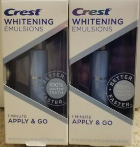 Crest Whitening Emulsions on the go whitening treatments - Lot of 2 - new