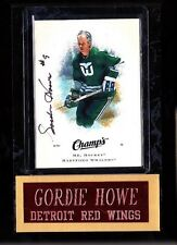 Gordie Howe - Autographed Card/Plaque,  2008 Champs Hockey (UD) card #31