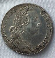 JETON ROYAL DES ETATS DE BRETAGNE EN ARGENT LOUIS XV LE BIEN AIME 1766 RENNES