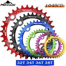 MOTSUV 104BCD MTB Bike Chainring Narrow Wide Single Chainwheel 32/34/36/38T