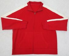 Athletic Jacket Coat 2XLT Unbranded XXL Tall Cotton Zip Up Red White Mens Man