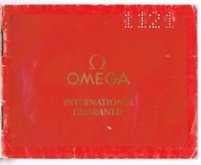 OMEGA International Guarantee Garantia Certificate Constellation Seamaster OEM