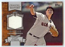 MATT CAIN 2013 Topps Chasing History Jersey Relic San Francisco Giants